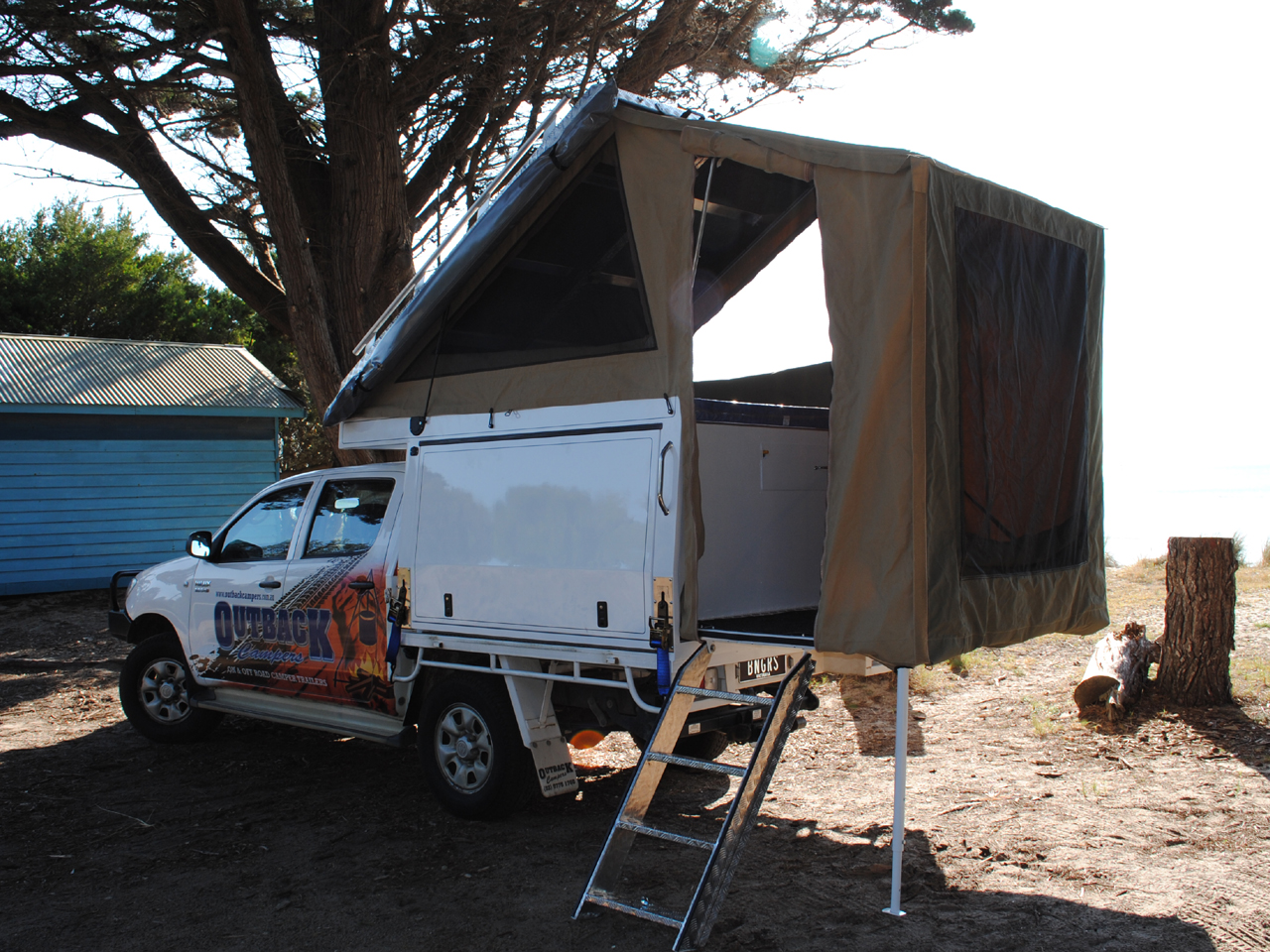 Twin Bed Tent Dual Cab Outback Campers Camper Trailers Melbourne