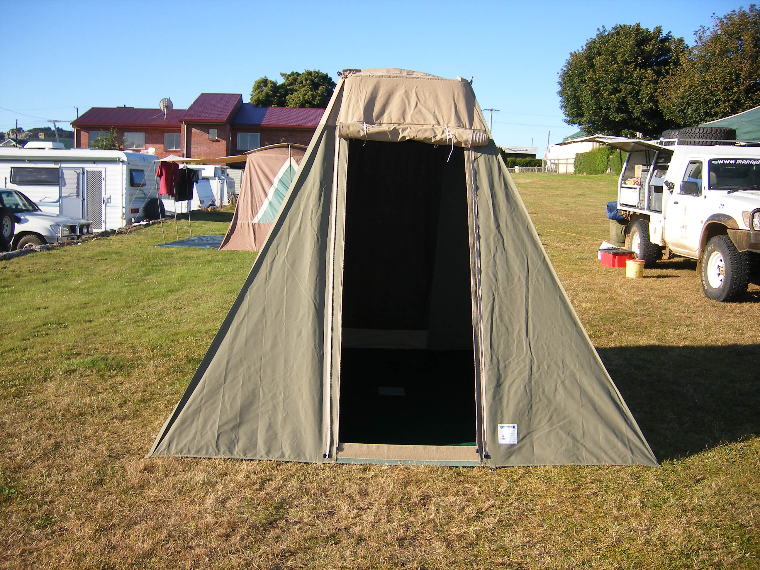 The 9×9 Toura canvas tent is ideal for 2-3 people whether it for is a quick weekend away up at the Murray River or a tent to be used in combination with ... & Toura 9×9 | Outback Campers | Camper Trailers Melbourne